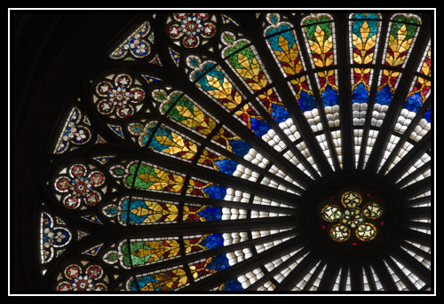 Rosace de la cathédrale Notre Dame de Strasbourg