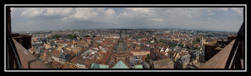Panoramique depuis la plateforme de la Cathédrale Notre Dame de Strasbourg