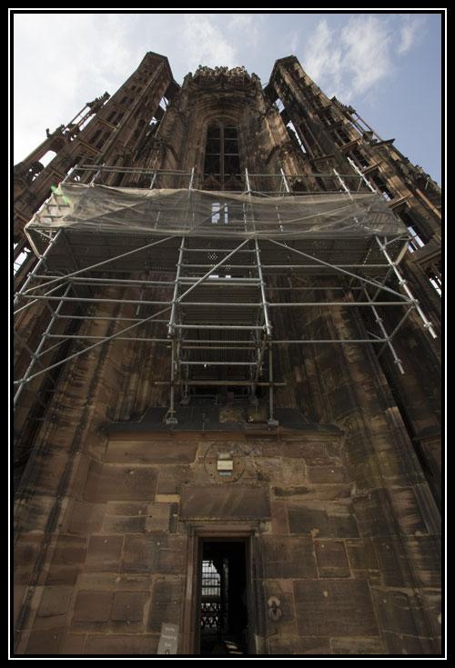 Le clocher de la Cathédrale Notre Dame de Strasbourg