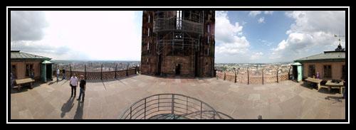 Panoramique à 360° depuis la plateforme de la Cathédrale Notre Dame de Strasbourg