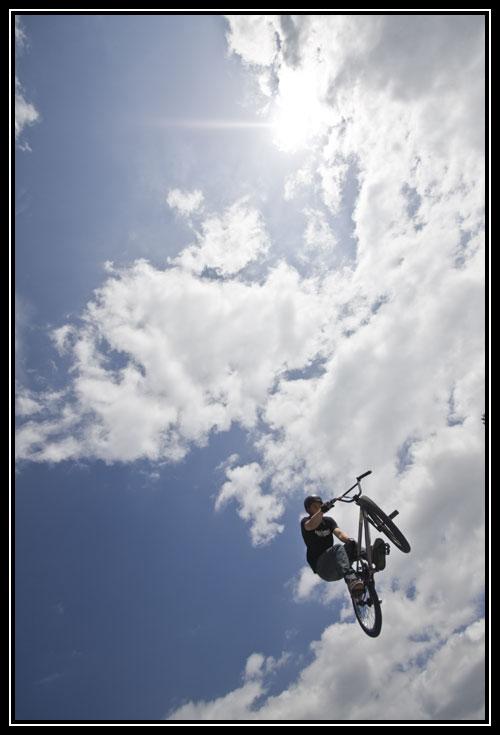 BMX en plein ciel