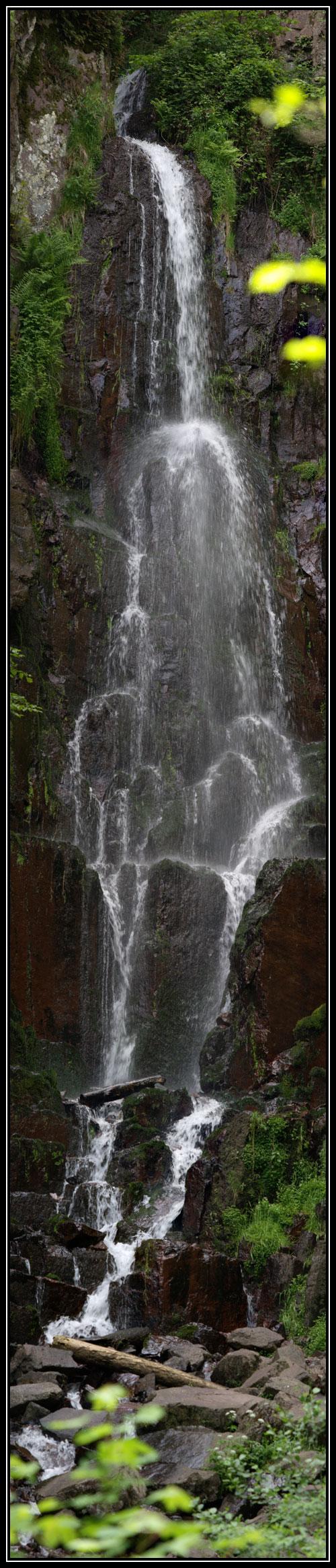 Panoramique de la cascade du Nideck