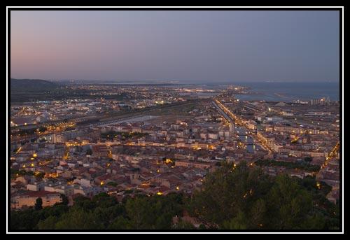 Autre vue nocturne de Sète